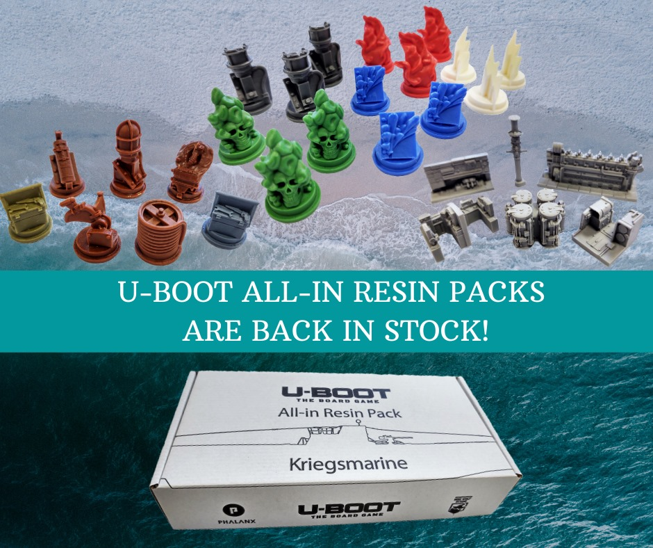U-boot the board game resin pieces